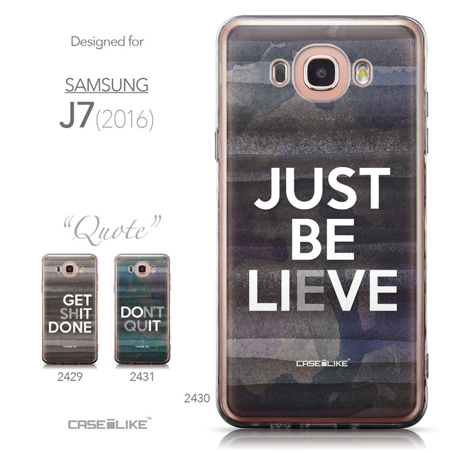 Collection - CASEiLIKE Samsung Galaxy J7 (2016) back cover Quote 2430