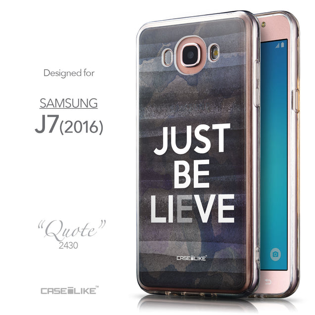Front & Side View - CASEiLIKE Samsung Galaxy J7 (2016) back cover Quote 2430