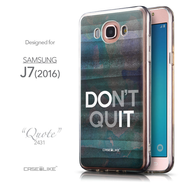 Front & Side View - CASEiLIKE Samsung Galaxy J7 (2016) back cover Quote 2431