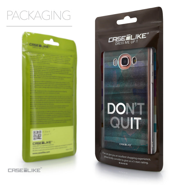 Packaging - CASEiLIKE Samsung Galaxy J7 (2016) back cover Quote 2431