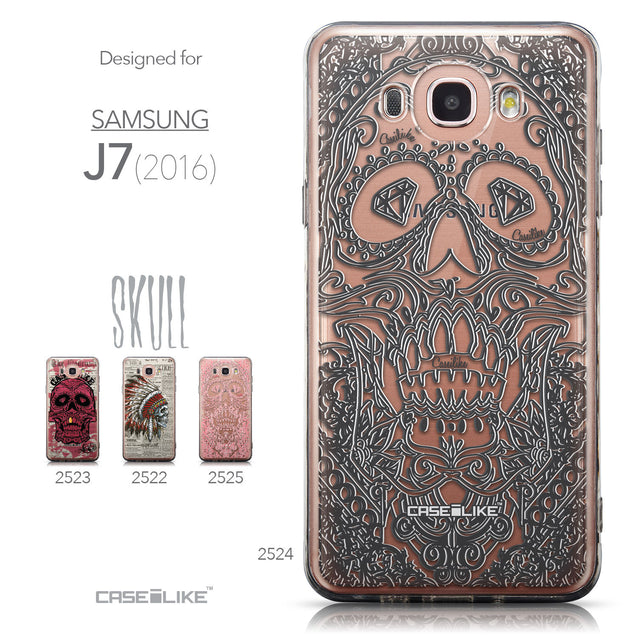 Collection - CASEiLIKE Samsung Galaxy J7 (2016) back cover Art of Skull 2524