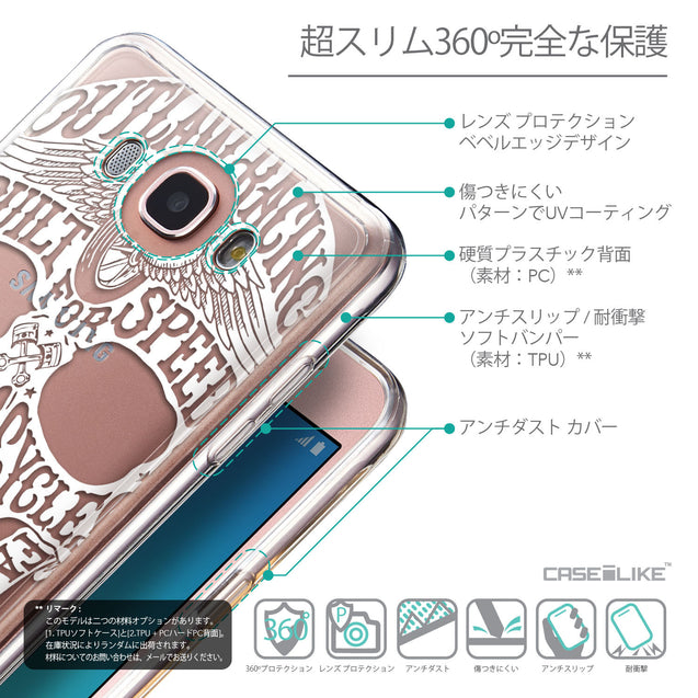 Details in Japanese - CASEiLIKE Samsung Galaxy J7 (2016) back cover Art of Skull 2530