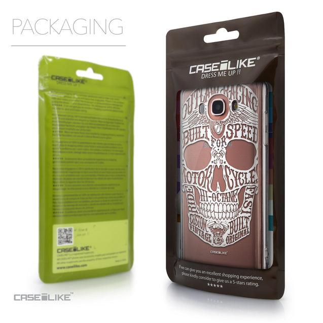 Packaging - CASEiLIKE Samsung Galaxy J7 (2016) back cover Art of Skull 2530