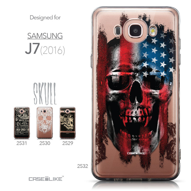 Collection - CASEiLIKE Samsung Galaxy J7 (2016) back cover Art of Skull 2532