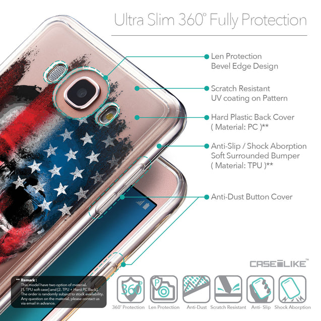 Details in English - CASEiLIKE Samsung Galaxy J7 (2016) back cover Art of Skull 2532