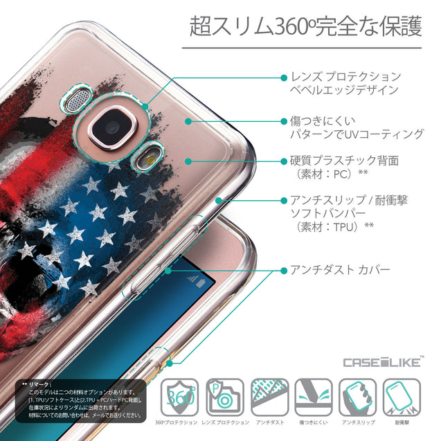 Details in Japanese - CASEiLIKE Samsung Galaxy J7 (2016) back cover Art of Skull 2532