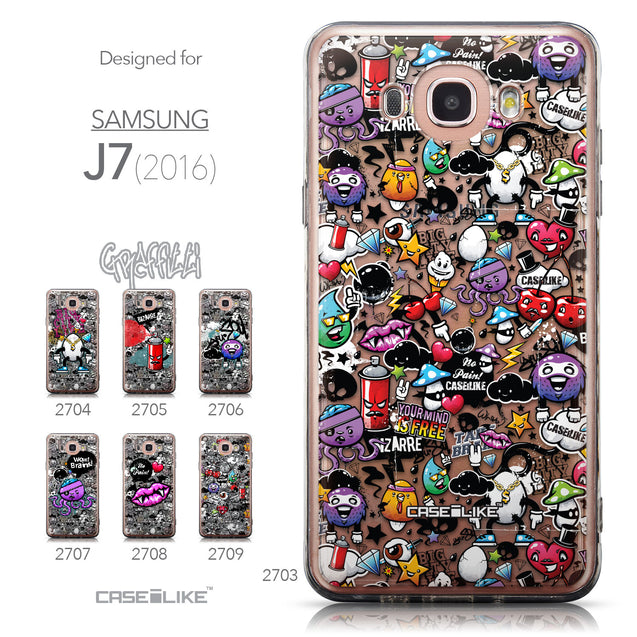 Collection - CASEiLIKE Samsung Galaxy J7 (2016) back cover Graffiti 2703