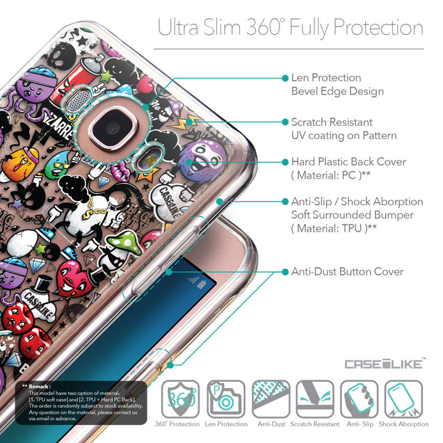 Details in English - CASEiLIKE Samsung Galaxy J7 (2016) back cover Graffiti 2703