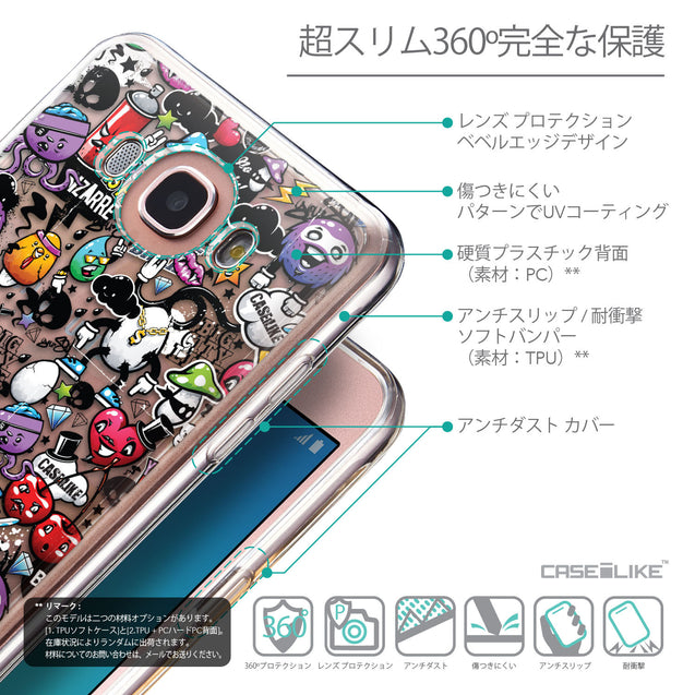 Details in Japanese - CASEiLIKE Samsung Galaxy J7 (2016) back cover Graffiti 2703