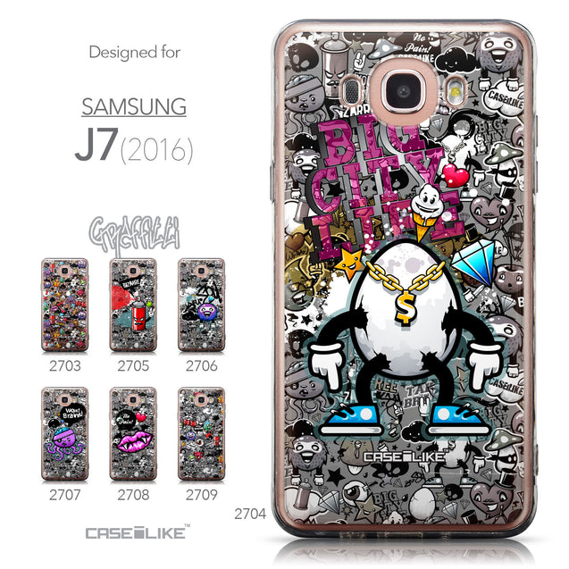 Collection - CASEiLIKE Samsung Galaxy J7 (2016) back cover Graffiti 2704