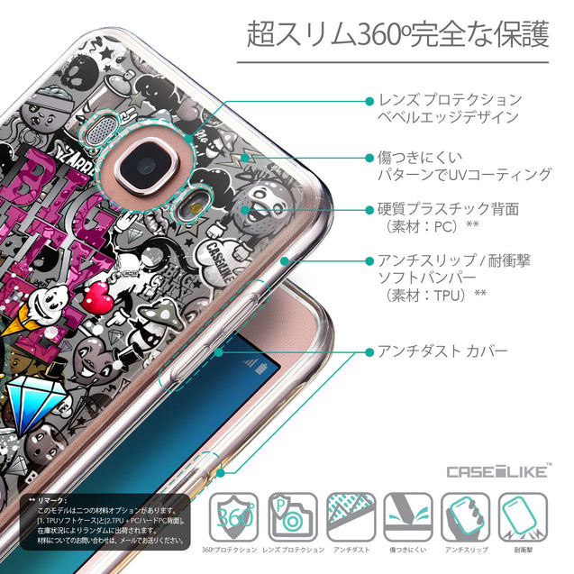 Details in Japanese - CASEiLIKE Samsung Galaxy J7 (2016) back cover Graffiti 2704