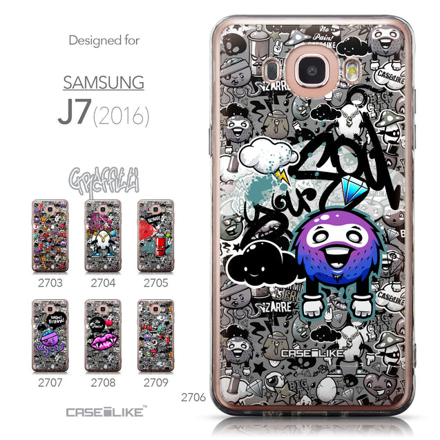 Collection - CASEiLIKE Samsung Galaxy J7 (2016) back cover Graffiti 2706