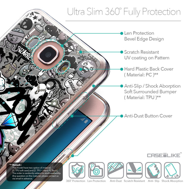 Details in English - CASEiLIKE Samsung Galaxy J7 (2016) back cover Graffiti 2706