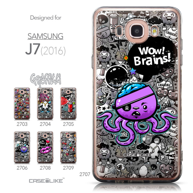 Collection - CASEiLIKE Samsung Galaxy J7 (2016) back cover Graffiti 2707