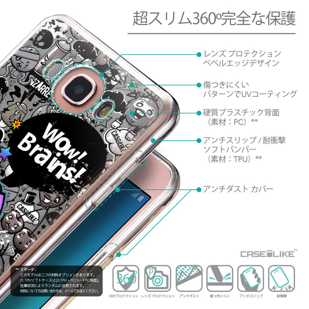 Details in Japanese - CASEiLIKE Samsung Galaxy J7 (2016) back cover Graffiti 2707