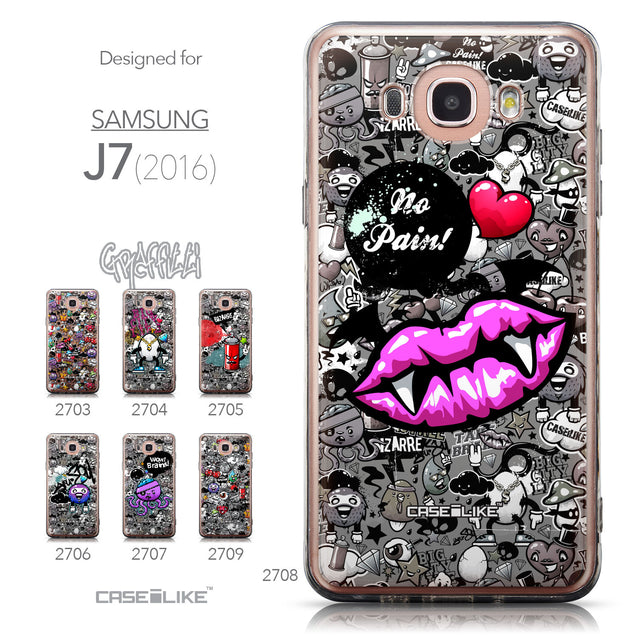 Collection - CASEiLIKE Samsung Galaxy J7 (2016) back cover Graffiti 2708