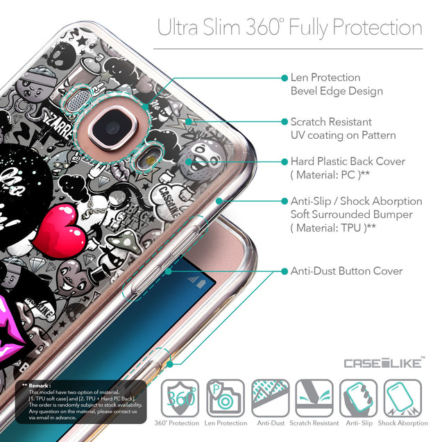 Details in English - CASEiLIKE Samsung Galaxy J7 (2016) back cover Graffiti 2708