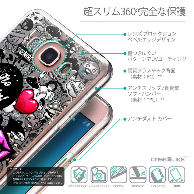 Details in Japanese - CASEiLIKE Samsung Galaxy J7 (2016) back cover Graffiti 2708