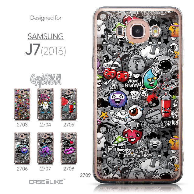 Collection - CASEiLIKE Samsung Galaxy J7 (2016) back cover Graffiti 2709