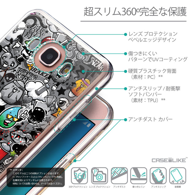 Details in Japanese - CASEiLIKE Samsung Galaxy J7 (2016) back cover Graffiti 2709
