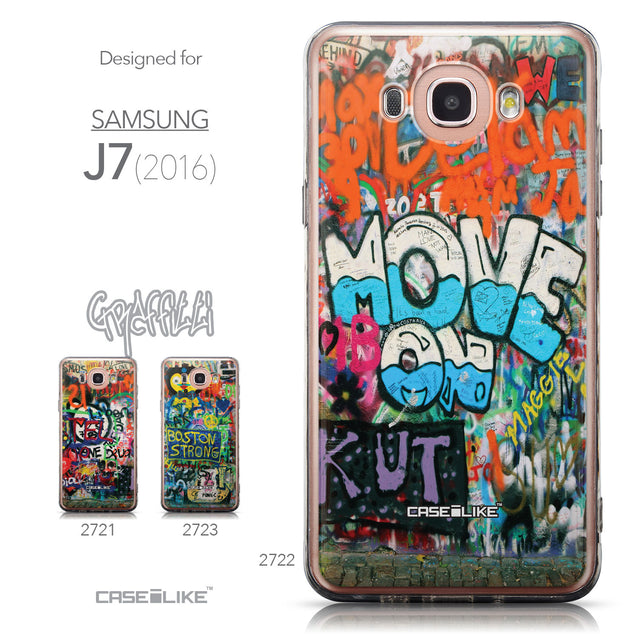 Collection - CASEiLIKE Samsung Galaxy J7 (2016) back cover Graffiti 2722