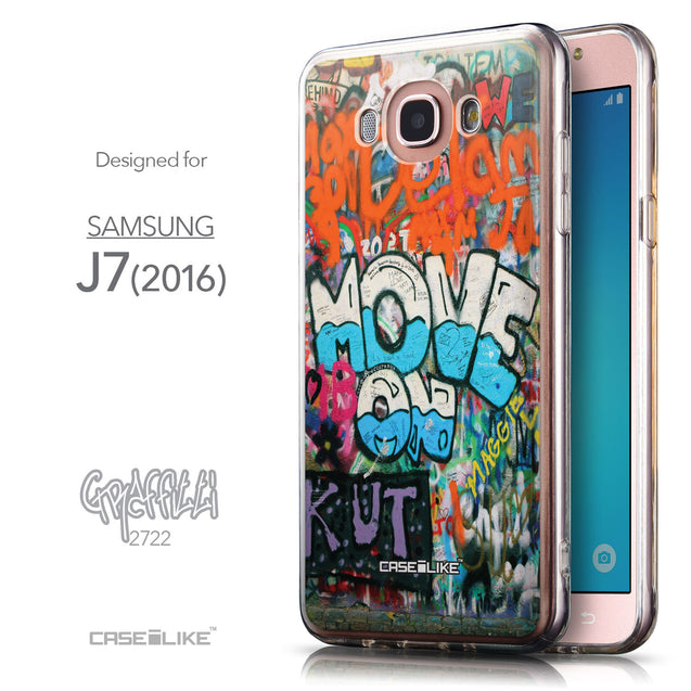 Front & Side View - CASEiLIKE Samsung Galaxy J7 (2016) back cover Graffiti 2722