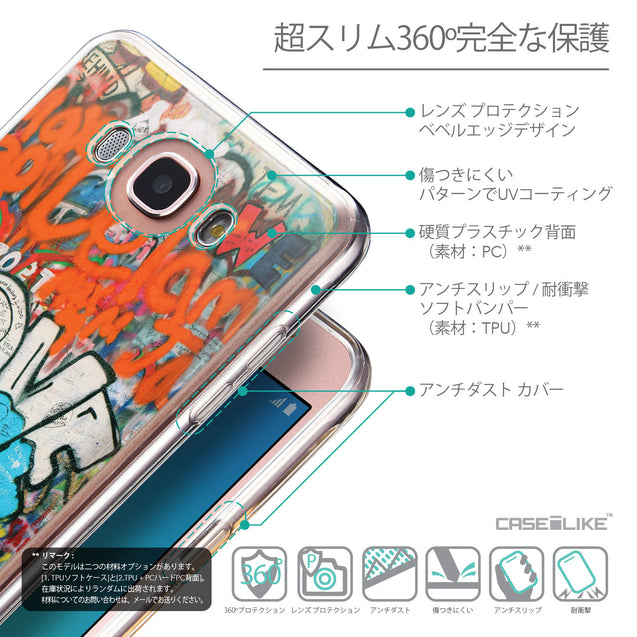 Details in Japanese - CASEiLIKE Samsung Galaxy J7 (2016) back cover Graffiti 2722
