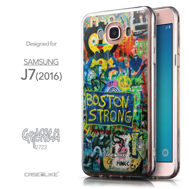 Front & Side View - CASEiLIKE Samsung Galaxy J7 (2016) back cover Graffiti 2723