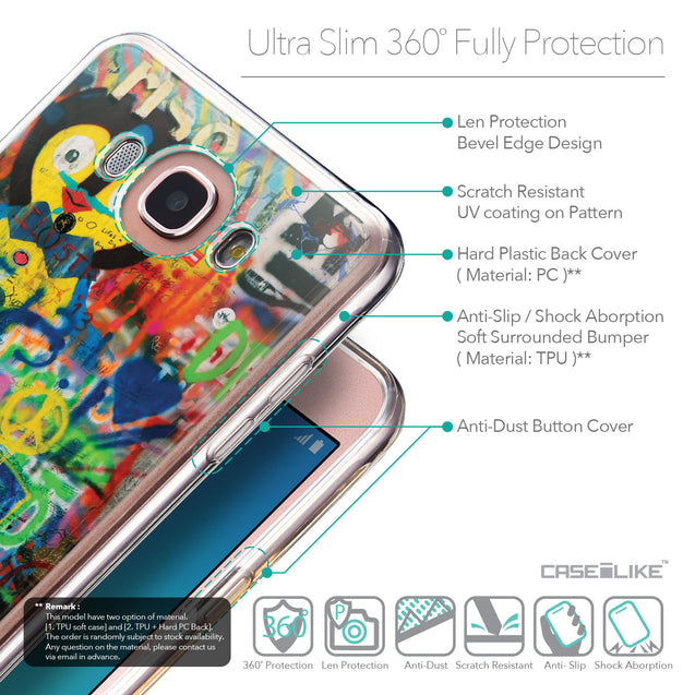 Details in English - CASEiLIKE Samsung Galaxy J7 (2016) back cover Graffiti 2723