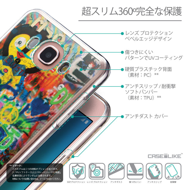 Details in Japanese - CASEiLIKE Samsung Galaxy J7 (2016) back cover Graffiti 2723