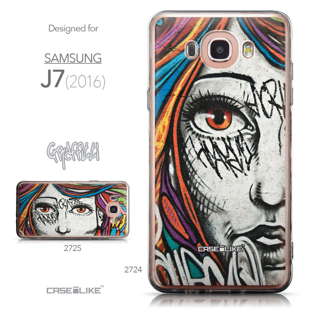 Collection - CASEiLIKE Samsung Galaxy J7 (2016) back cover Graffiti Girl 2724