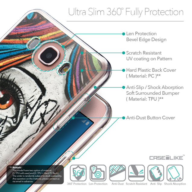 Details in English - CASEiLIKE Samsung Galaxy J7 (2016) back cover Graffiti Girl 2724