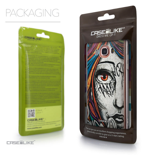 Packaging - CASEiLIKE Samsung Galaxy J7 (2016) back cover Graffiti Girl 2724