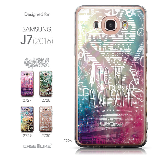 Collection - CASEiLIKE Samsung Galaxy J7 (2016) back cover Graffiti 2726