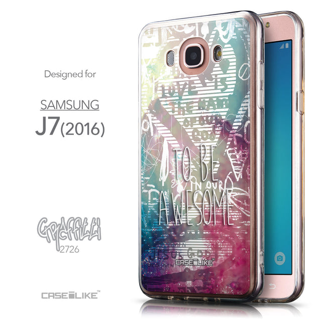 Front & Side View - CASEiLIKE Samsung Galaxy J7 (2016) back cover Graffiti 2726