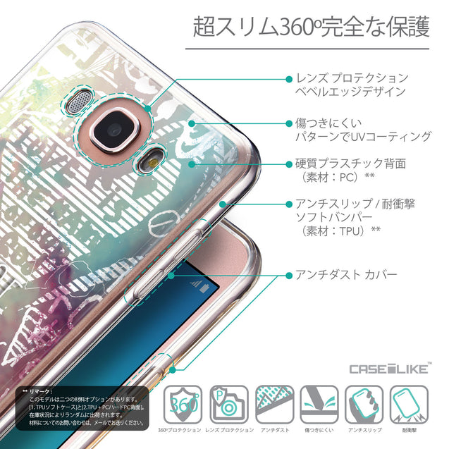 Details in Japanese - CASEiLIKE Samsung Galaxy J7 (2016) back cover Graffiti 2726
