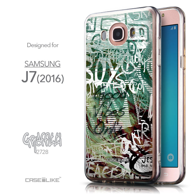 Front & Side View - CASEiLIKE Samsung Galaxy J7 (2016) back cover Graffiti 2728