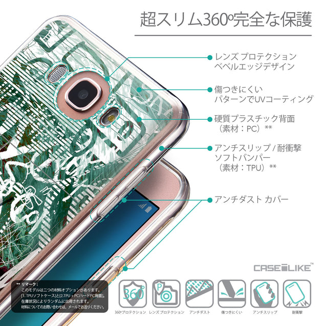 Details in Japanese - CASEiLIKE Samsung Galaxy J7 (2016) back cover Graffiti 2728