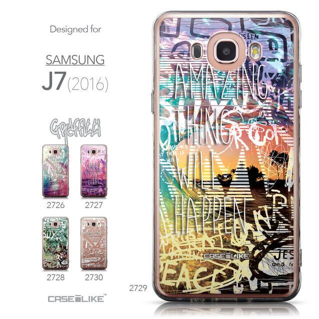 Collection - CASEiLIKE Samsung Galaxy J7 (2016) back cover Graffiti 2729
