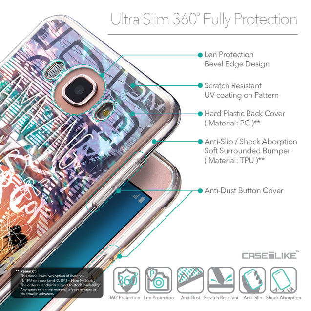 Details in English - CASEiLIKE Samsung Galaxy J7 (2016) back cover Graffiti 2729