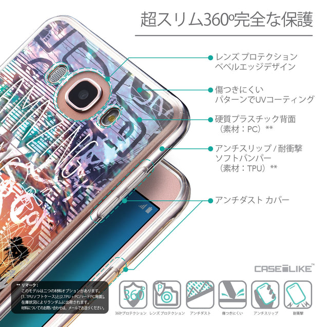 Details in Japanese - CASEiLIKE Samsung Galaxy J7 (2016) back cover Graffiti 2729