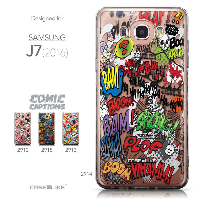 Collection - CASEiLIKE Samsung Galaxy J7 (2016) back cover Comic Captions 2914