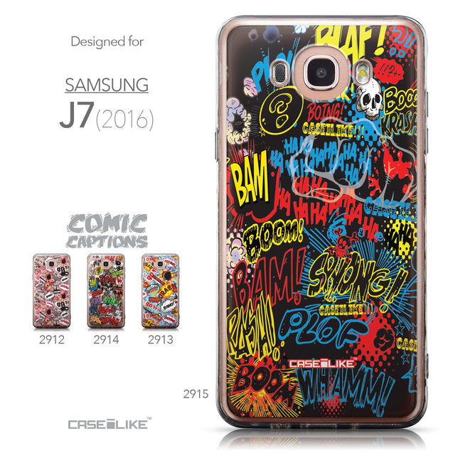 Collection - CASEiLIKE Samsung Galaxy J7 (2016) back cover Comic Captions Black 2915