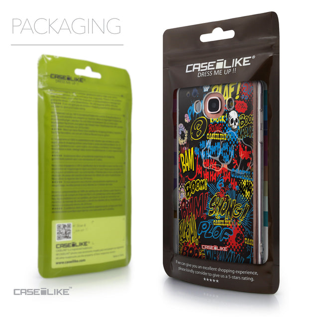 Packaging - CASEiLIKE Samsung Galaxy J7 (2016) back cover Comic Captions Black 2915