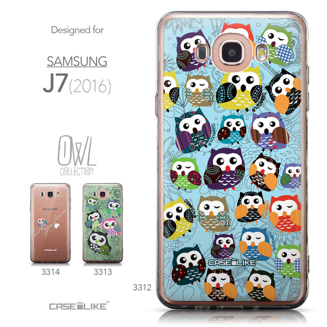 Collection - CASEiLIKE Samsung Galaxy J7 (2016) back cover Owl Graphic Design 3312