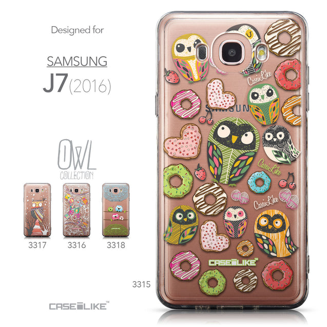 Collection - CASEiLIKE Samsung Galaxy J7 (2016) back cover Owl Graphic Design 3315