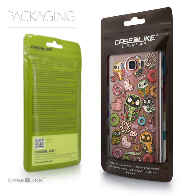 Packaging - CASEiLIKE Samsung Galaxy J7 (2016) back cover Owl Graphic Design 3315