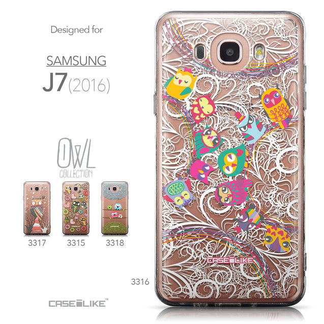Collection - CASEiLIKE Samsung Galaxy J7 (2016) back cover Owl Graphic Design 3316