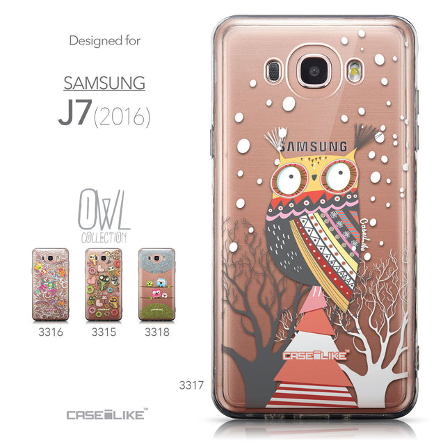 Collection - CASEiLIKE Samsung Galaxy J7 (2016) back cover Owl Graphic Design 3317