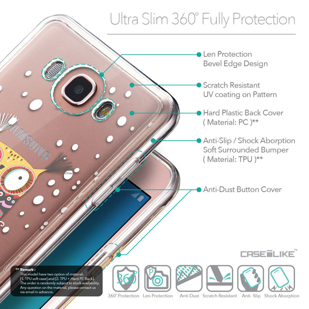Details in English - CASEiLIKE Samsung Galaxy J7 (2016) back cover Owl Graphic Design 3317